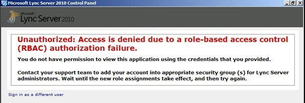 rbac-Autorisierung gibt den Zugriff für den Benutzerserver zurückgewiesen zurück