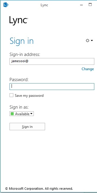 Can't Sign In to Lync (1/5)