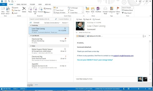 Outlook 2013 Blank Right Pane