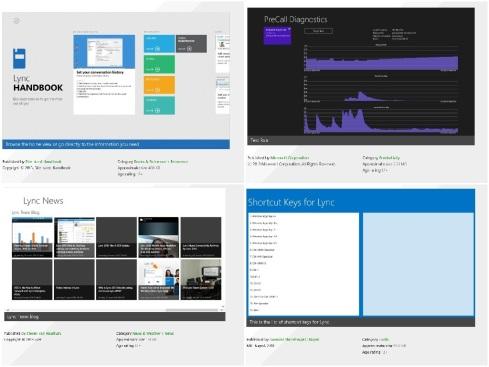 Lync Win8 Apps