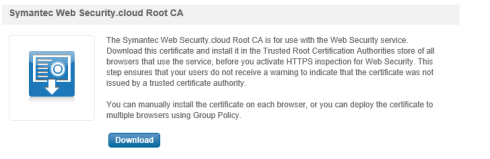 Symantec Web Security Cloud Root CA